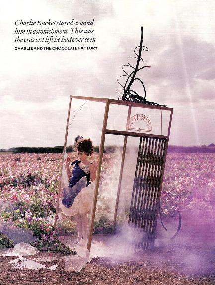Série Tim Walker pour Vogue UK, décembre 2008, inspirée par l'univers de Roald Dahl.