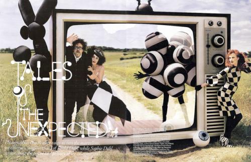 Série Tim Walker pour Vogue UK, décembre 2008, inspirée de l'univers de Roald Dahl