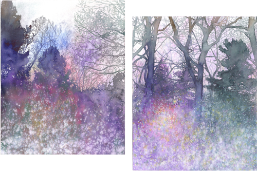 "Erika Somogyi, Untitled (misty forests), each 11"" x 14"", 2007"