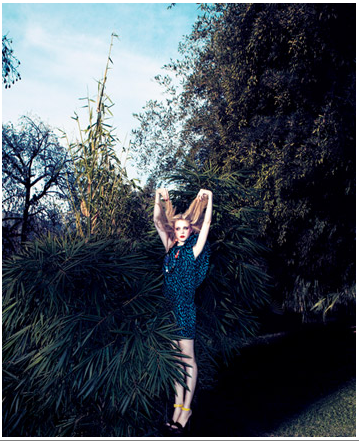 "Extrait de la série ""a bird in the bush"", Camilla Akrans pour T Magazine"