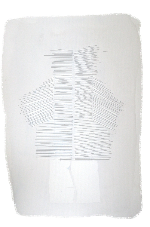 Manteau, Issey Miyake, illustration Juliette Teste, 2009