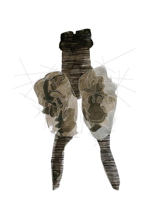 Justaucorps, Issey Miyake, illustration Juliette Teste, 2009