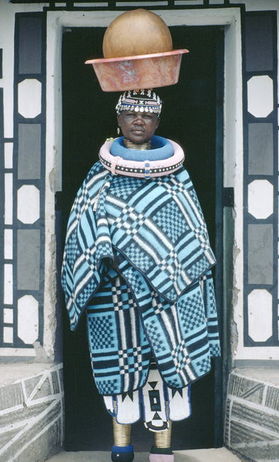 A South African woman of the Ndebele tribe
