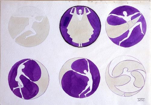 Thayaht, étude pour le logo de Madeleine Vionnet