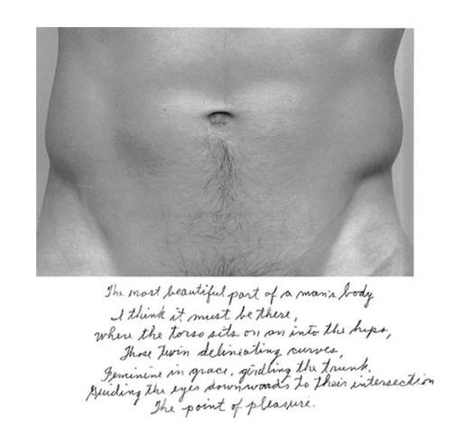 Duane Michals, The most beautiful part of a man's body, 1986