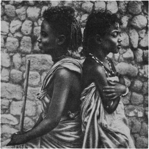 The Secret Museum of Mankind, Africa, Bisharin child shepherdesses (Sudan)