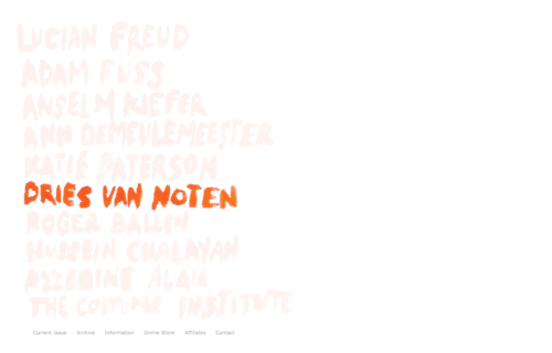 Dries van Noten@nomenus quarterly