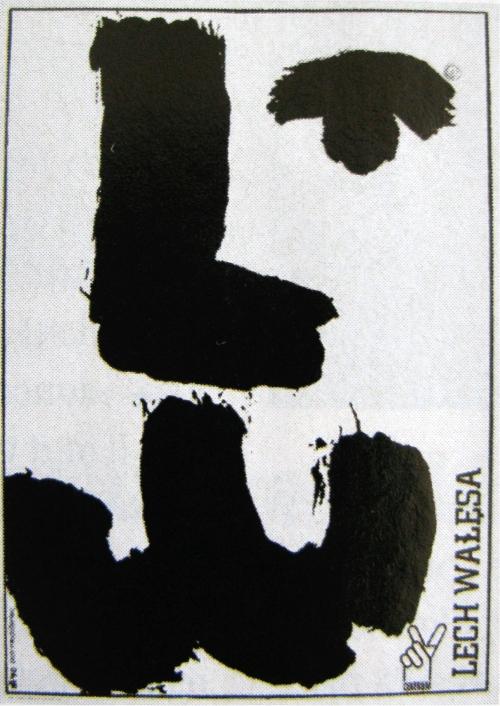 Affiche pour Lech Walesa, élections présidentielles, Pologne, 1990