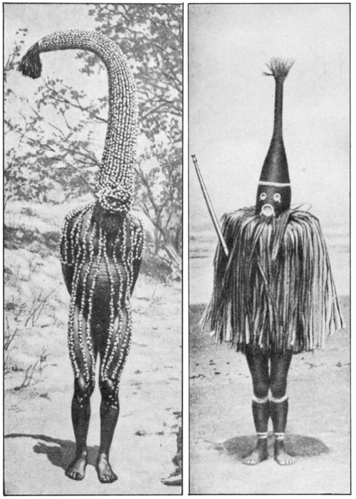 The Secret Museum of Mankind, Oceania, from left to right, Emu man & initiation mask