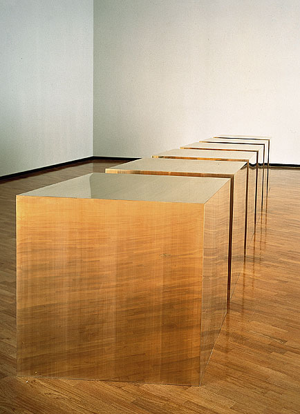 Donald Judd, 6 boxes (untitled), 1974