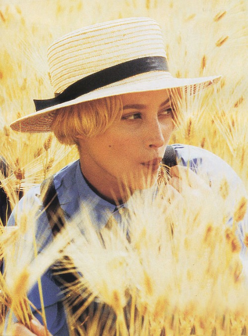 """The Great Plain"" Photographed by Ellen von Unwerth American Vogue, August 1993"
